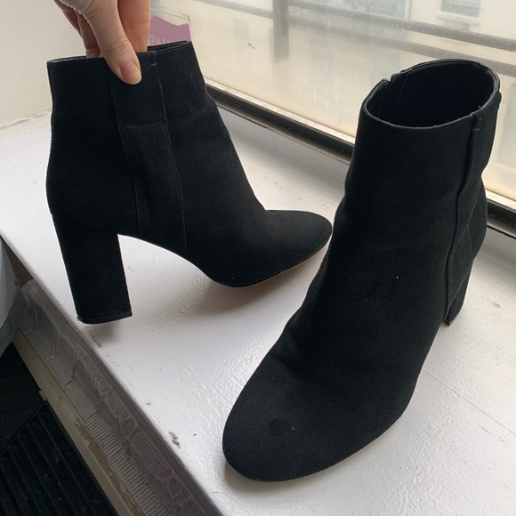 Nine West Black Suede Ankle Boots